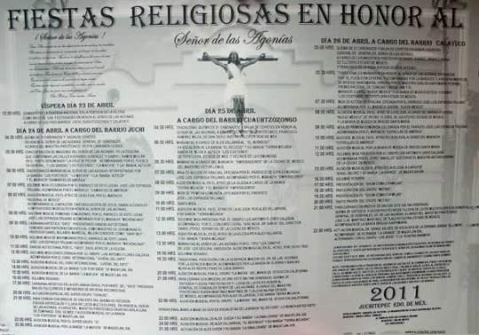 Programa Completo de la Feria Anual de Juchitepec 2011